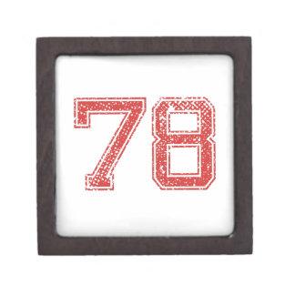 El rojo se divierte Jerzee número 78 Cajas De Joyas De Calidad