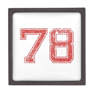 El rojo se divierte Jerzee número 78 Cajas De Regalo De Calidad