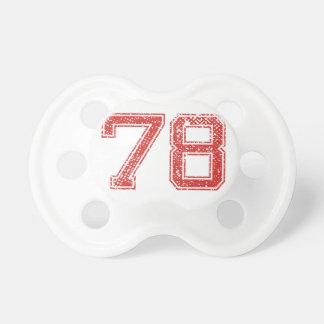 El rojo se divierte Jerzee número 78 Chupetes De Bebé