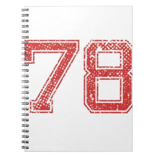 El rojo se divierte Jerzee número 78 Libreta Espiral