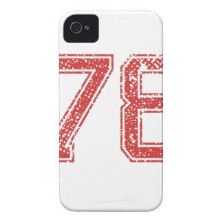 El rojo se divierte Jerzee número 78 iPhone 4 Funda