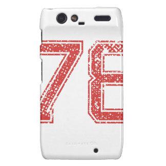 El rojo se divierte Jerzee número 78 Motorola Droid RAZR Carcasas