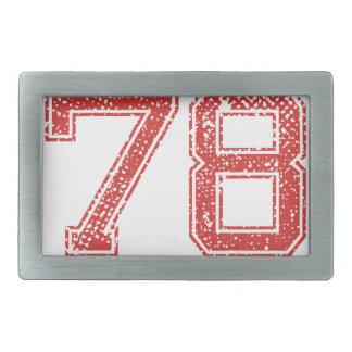 El rojo se divierte Jerzee número 78 Hebillas Cinturón Rectangulares