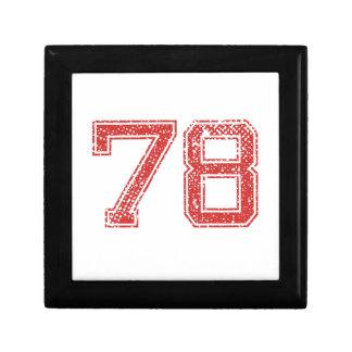 El rojo se divierte Jerzee número 78 Cajas De Joyas