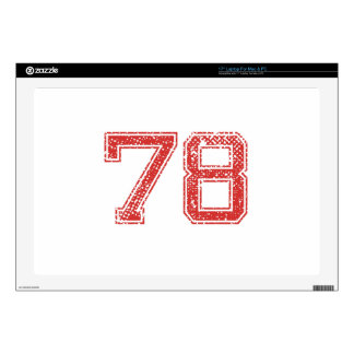 El rojo se divierte Jerzee número 78 Skins Para 43,2cm Portátiles