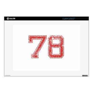 El rojo se divierte Jerzee número 78 Portátil Calcomanías