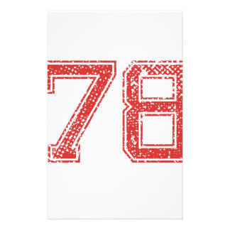 El rojo se divierte Jerzee número 78 Papeleria De Diseño