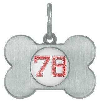 El rojo se divierte Jerzee número 78 Placa Mascota