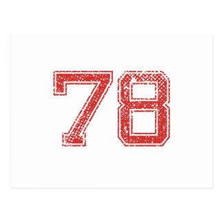 El rojo se divierte Jerzee número 78 Postal