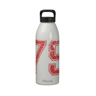 El rojo se divierte Jerzee número 79 Botellas De Agua Reutilizables