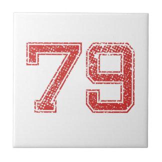 El rojo se divierte Jerzee número 79 Teja Cerámica