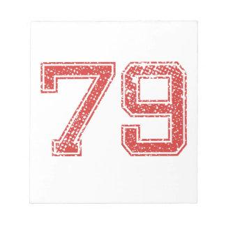 El rojo se divierte Jerzee número 79 Libretas Para Notas