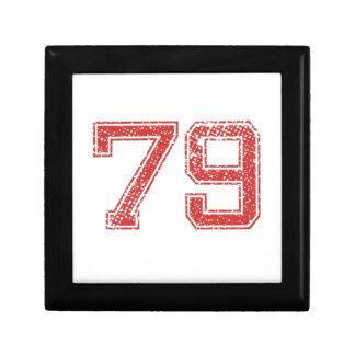 El rojo se divierte Jerzee número 79 Caja De Regalo