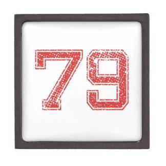 El rojo se divierte Jerzee número 79 Caja De Recuerdo De Calidad