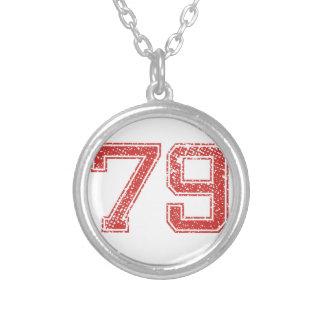El rojo se divierte Jerzee número 79 Colgantes Personalizados