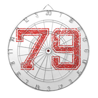El rojo se divierte Jerzee número 79 Tabla Dardos