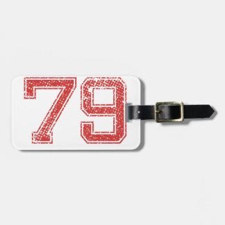 El rojo se divierte Jerzee número 79 Etiquetas Para Maletas