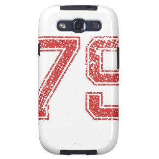 El rojo se divierte Jerzee número 79 Samsung Galaxy S3 Protectores