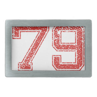 El rojo se divierte Jerzee número 79 Hebillas Cinturon Rectangulares