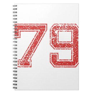 El rojo se divierte Jerzee número 79 Cuadernos