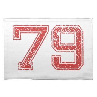 El rojo se divierte Jerzee número 79 Mantel