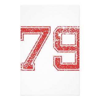 El rojo se divierte Jerzee número 79 Papeleria