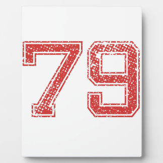 El rojo se divierte Jerzee número 79 Placa De Plastico