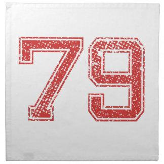 El rojo se divierte Jerzee número 79 Servilletas
