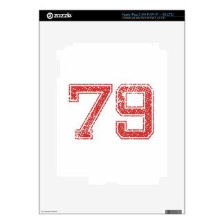 El rojo se divierte Jerzee número 79 iPad 3 Skin
