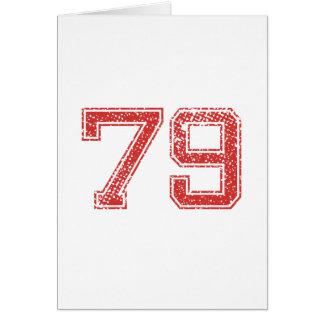 El rojo se divierte Jerzee número 79 Felicitación