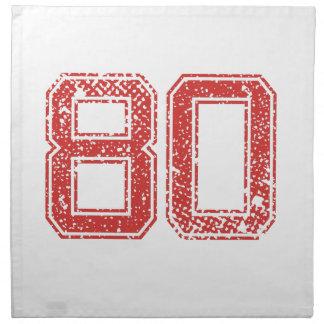 El rojo se divierte Jerzee número 80 Servilleta Imprimida