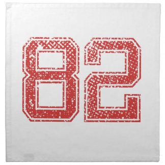 El rojo se divierte Jerzee número 82 Servilleta