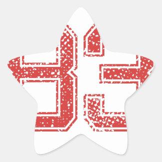 El rojo se divierte Jerzee número 83 Pegatina Forma De Estrella