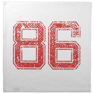 El rojo se divierte Jerzee número 86 Servilletas De Papel