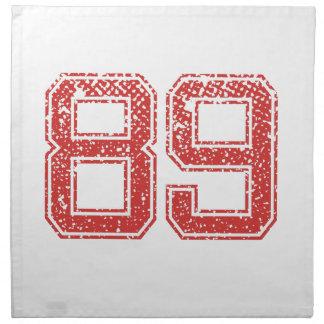 El rojo se divierte Jerzee número 89 Servilleta