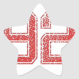 El rojo se divierte Jerzee número 92 Calcomania Forma De Estrella Personalizada