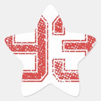 El rojo se divierte Jerzee número 93 Calcomania Forma De Estrella