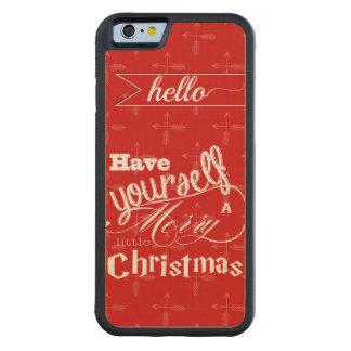 El rojo tiene usted mismo del vintage Felices Funda De iPhone 6 Bumper Arce