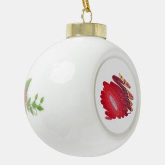 El rojo tuerce en espiral ornamento de cerámica de adorno de cerámica en forma de bola
