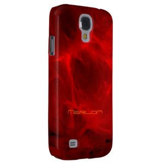 El rojo veteó la cubierta de la galaxia s4 de funda para galaxy s4