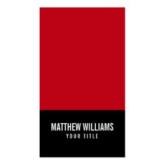 El rojo y el negro añaden su propio genérico tarjetas de visita