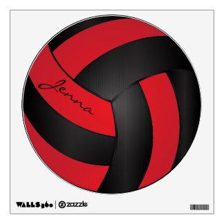 El rojo y el negro personalizan voleibol vinilo