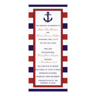 El rojo y la colección náutica del boda del ancla plantilla de lona