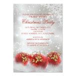 El rojo y la fiesta de Navidad de las chucherías Invitación