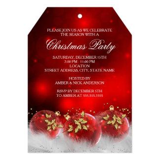El rojo y la fiesta de Navidad de las chucherías Invitación 12,7 X 17,8 Cm