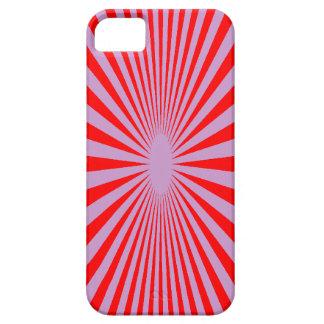 El rojo y la púrpura hipnotizan la cubierta del funda para iPhone 5 barely there