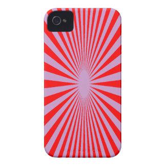El rojo y la púrpura hipnotizan la cubierta del te iPhone 4 Case-Mate cobertura