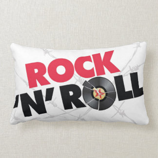 El rollo 2 de la roca N echó a un lado almohada Cojín Lumbar