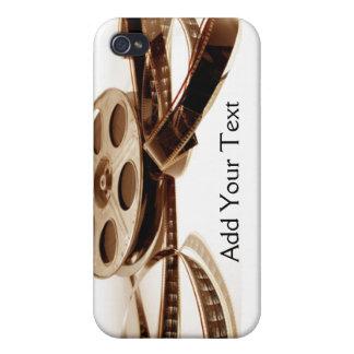 El rollo de película en sepia entona el fondo iPhone 4/4S funda