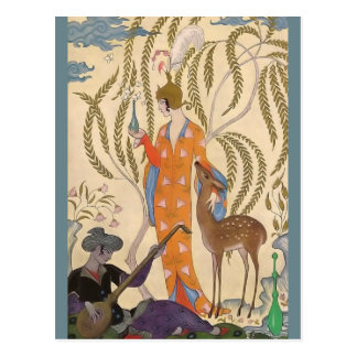 El romance del perfume Persia de George Barbier Tarjetas Postales